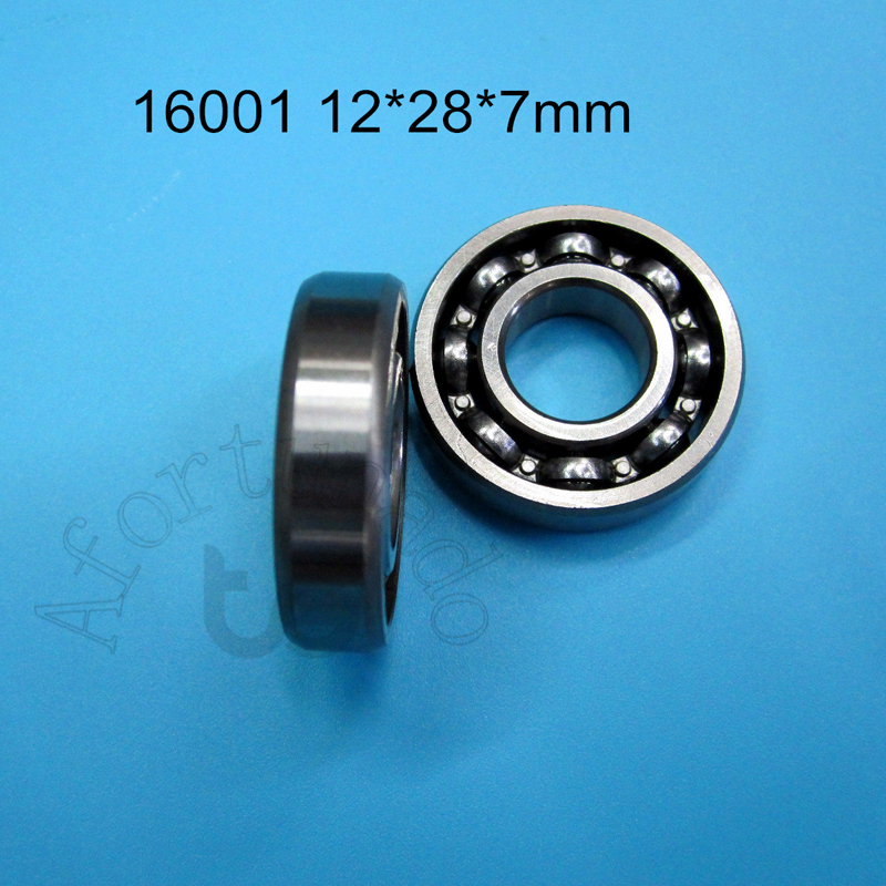 12x28x7 mm 5pcs 16001-2RS Chrome Metal Rubber Sealed Ball Bearings 16001RS BLK