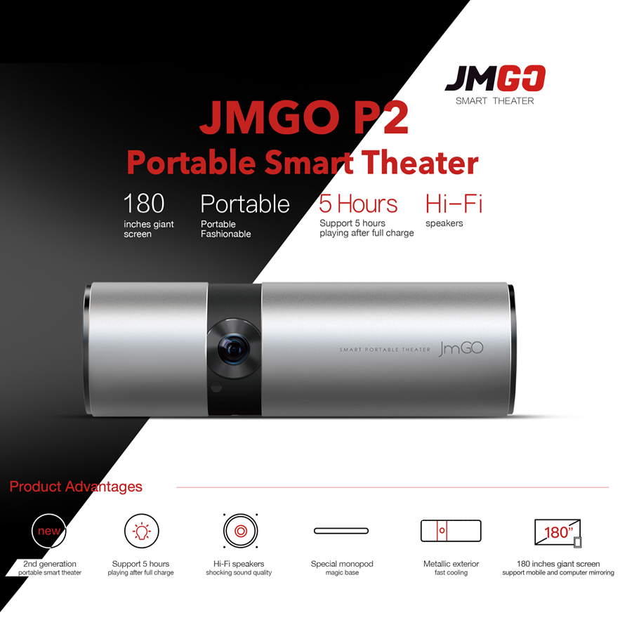 JMGO P2 Portable LED Projector Android (3)
