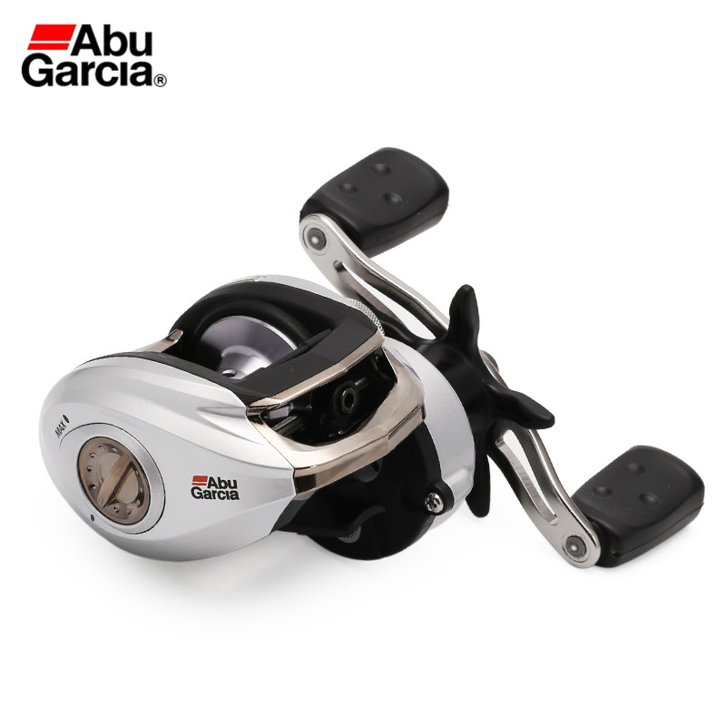 Original Abu Garcia Brand Fishing Reel SILVER MAX3 SMAX3 Left Hand 5+1BB Max Drag 8kg 6.4:1 Bait Casting Reel abu garcia pmax3 right left hand bait casting fishing reel 7 1bb 7 1 1 207g 8kg max drag drum trolling baitcasting reel
