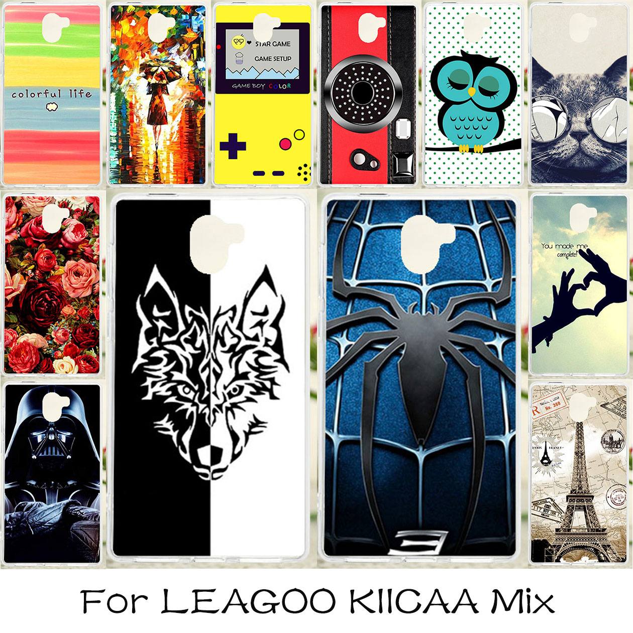 TAOYUNXI Soft Case For LEAGOO KIICAA Mix Case Dirt-resistant DIY Painted Cover For LEAGOO KIICAA Mix Cases Silicone Skin Covers