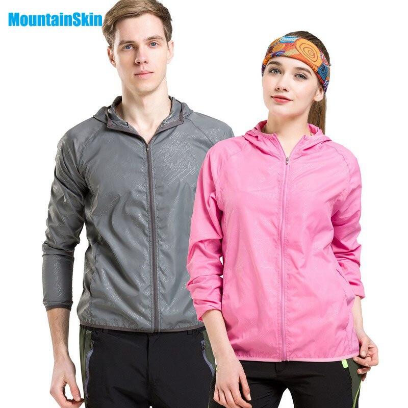 2017 Для мужчин и Для женщин быстросохнущая дышащая Куртки Спорт на открытом воздухе кожи брендовая одежда кемпинг Пеший Туризм мужской и женский защитные УФ-Пальто для будущих мам