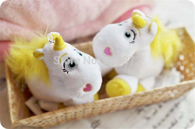 Toy Story Buttercup Unicorn Plush Toy Unicornio White Horse Stuffed Animals Cute Pendant Keychains Key Chain Kids Toys Gifts