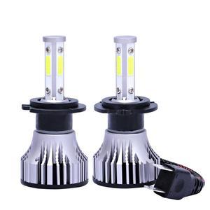 Image 1 - 2 個 4 辺 Led ランプ H1 H11 H4 LED H7 12 V 車のライト HB4 9005 9006 9004 9007 9012 880 881 H27 H13 オートヘッドライト電球 6500 18K