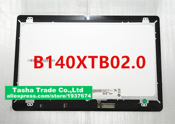 """14.0"""" For DELL B140XTB02.0 LCD display Screen Touch Digitizer Assembly HD 1366X768"""