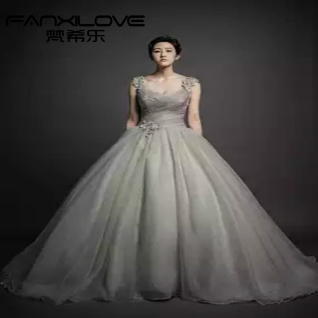 Fanxilove Custom soot bean paste color spell color dress simple atmospheric  fold increase tutu dress was 93ae8033d60a