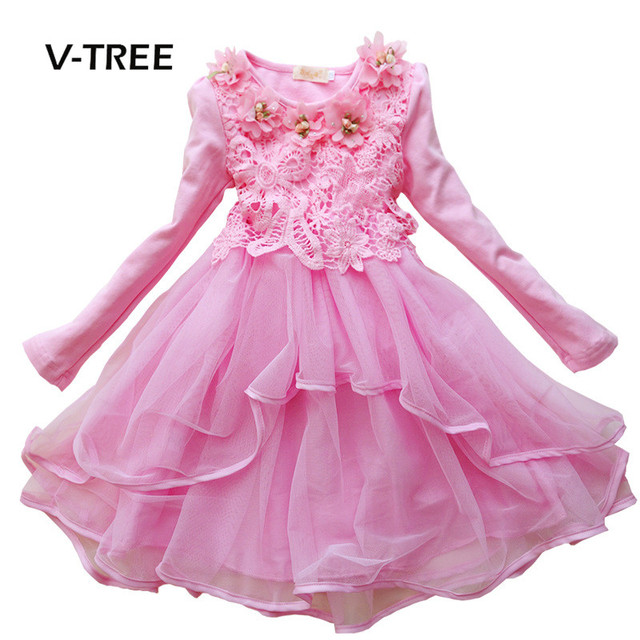 V TREE niñas vestido ropa traje princesa vestido de fiesta de ...