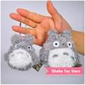 10 unids/lote Wholesale 10 cm Japón Anime Totoro Lindo de la Felpa Pequeño Colgante Cadena de Teléfono Móvil y el Bolso