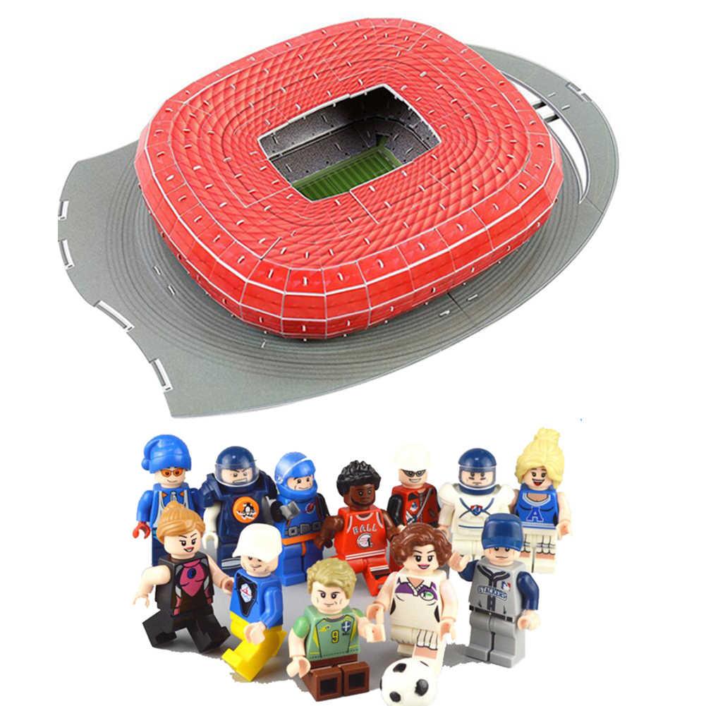 Carta Classic Puzzle 3D Puzzle Di Architettura Germania Monaco di Baviera Allianz Arena Calcio Stadi Giocattoli Bilancia Modelli di Set di Costruzione