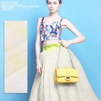 Mathilda Feelings Eugen Yarn Silk Jacquard Silk Organza Fabric Blended Skinny Silk Cloth Clothing