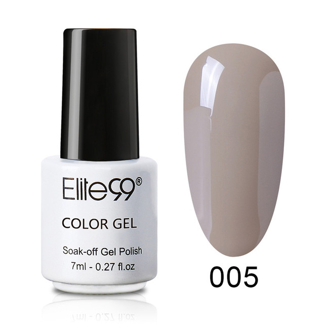 Elite99 Nagel Gel Polnisch 7ML Hybrid Nail art Semi Permanent Gel Lacke Tränken Weg Top Nude Farbe Gel Lack nagellack Vernis