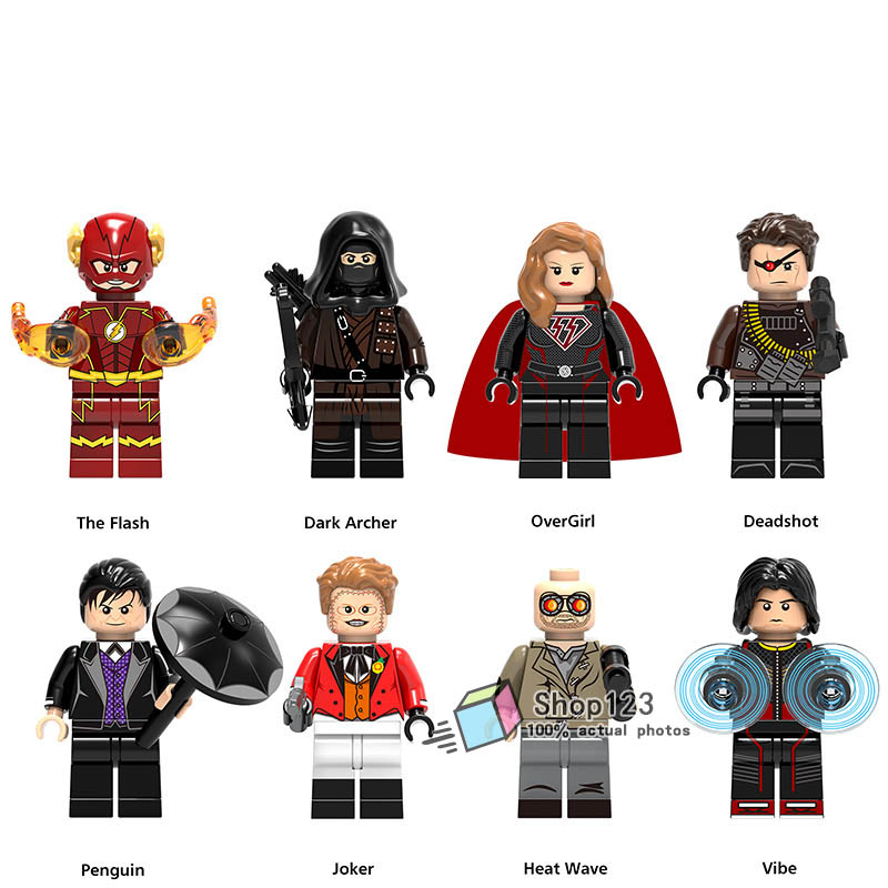 Single super heroes building blocks legoings the flash dark archer overgirl deadshot heat wave - Flash le super heros ...