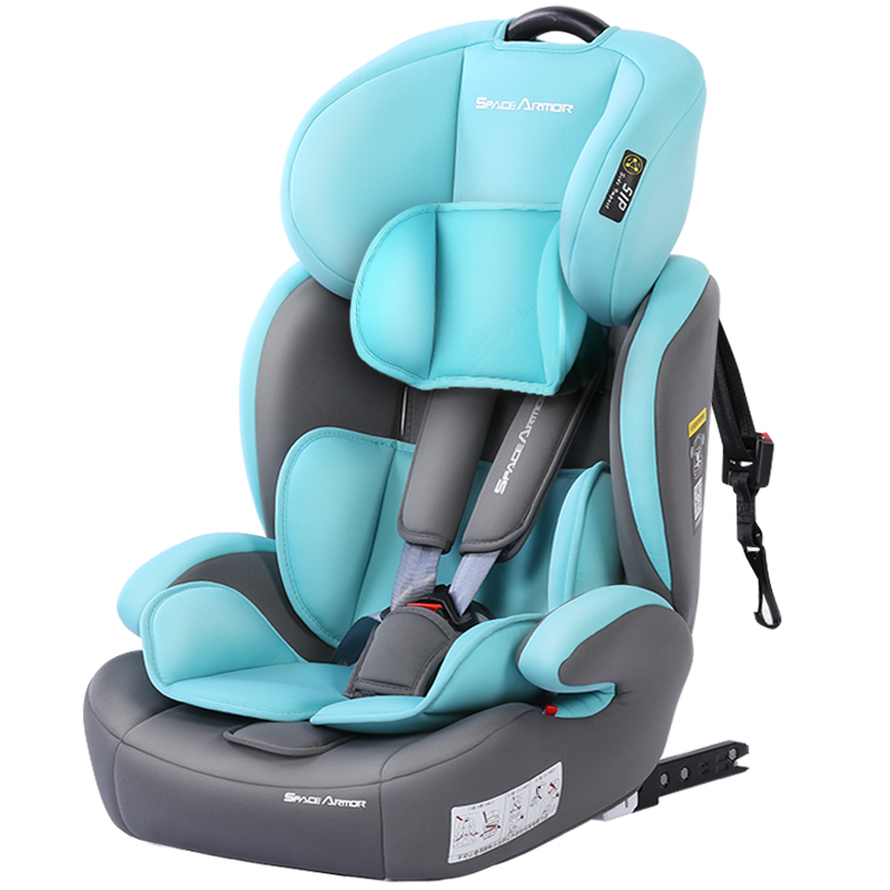 ISOFIX Interface Child Safety Seat Baby Car Portable Baby Sitting Chair 5 point Seat Belt Booster Seat Adjustable height 9M 12Y