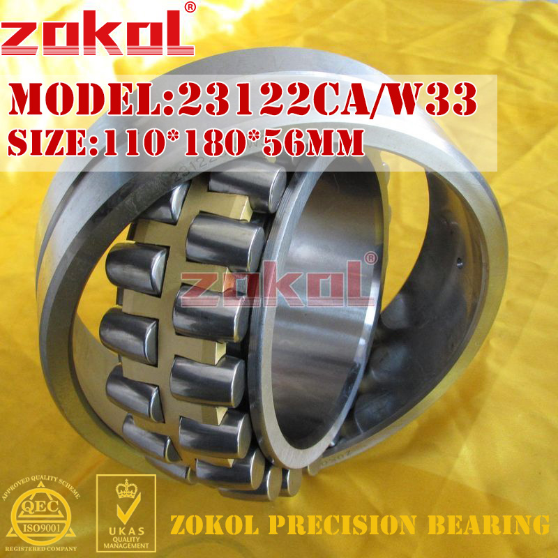 ZOKOL bearing 23122CA W33 23122CA/W33 Spherical Roller bearing 3053722HK self-aligning roller bearing 110*180*56mm
