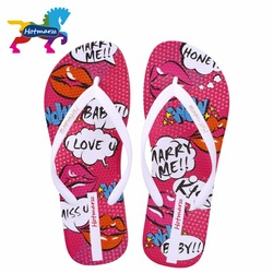 db636c2495a5 Hotmarzz Women Flip Flops Fashion Slippers Red Lips Cartoon Non-slip Female  Sandals Print Flat Beach Shoes Slides
