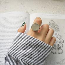 Минималистичное блестящее серебряное кольцо amaiyllis с отверстиями
