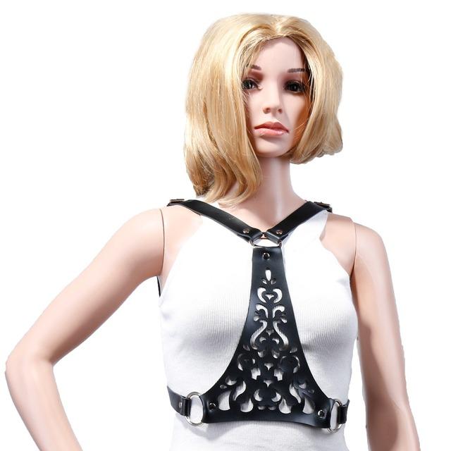 Para mujer goth pastel impresión diseñador correa de cuero de HARAJUKU arnés amor vivo cosplay de extremo a extremo de cintura del envío gratis