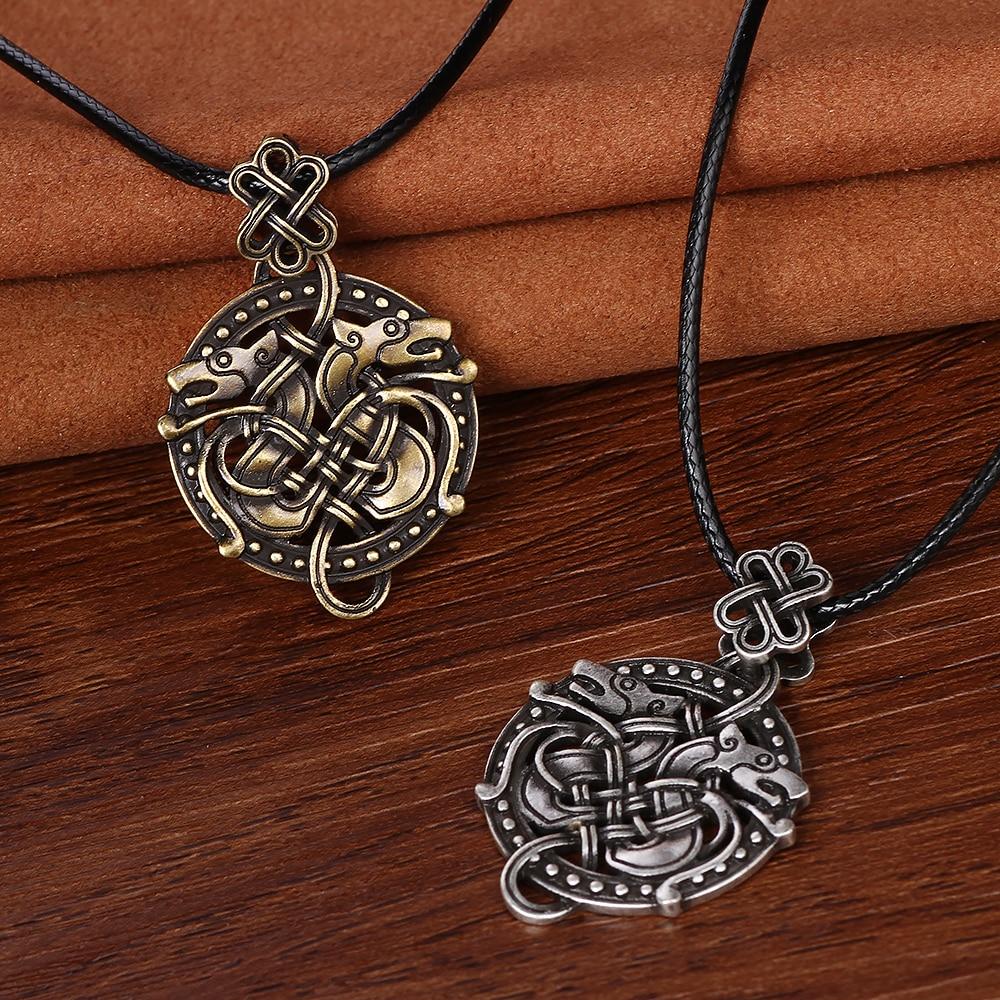 Odin Sleipnir Viking Pendant Necklace Dragon Valknut Necklace ...
