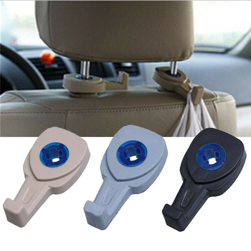 Image 3 - 2pcs/pair Multifunction Hidden Type Car Seat Back Hook Automotive Accessories Non perforated  Door Back-in Hooks & Rails from Home & Garden