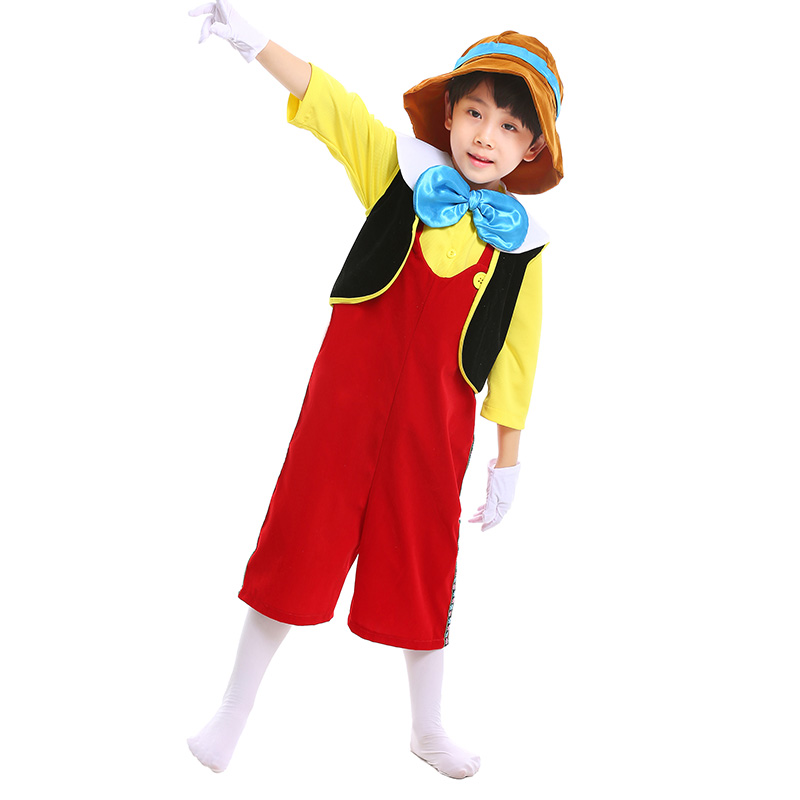 fa722e799 Child 2017 The Adventures of Pinocchio Deluxe Cosplay Costume Boys  Halloween Fun Suit-in Boys Costumes from Novelty & Special Use on  Aliexpress.com ...