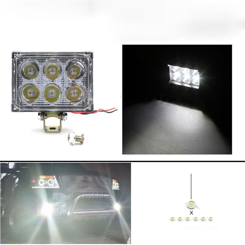 Car-styling KAKUDER 12V 24V 18W 1200LM LED Work Light Lamp For SUV ATV Car Truck Tractor Boat td0222 dropship