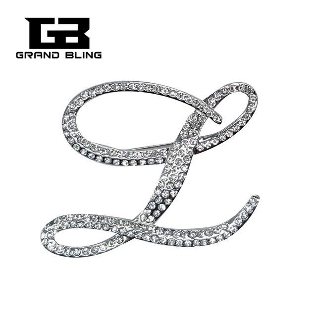 f9d68f6257d Bingbling Luxury Look Fancy Crystal Large Script Letter