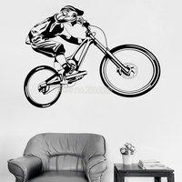 Bicycle Boy Wall Stickers Bike Fancy Extreme Sports Cool Wall Decor For  Boys Bedroom Decals Modern Garage Home Decorative LC269