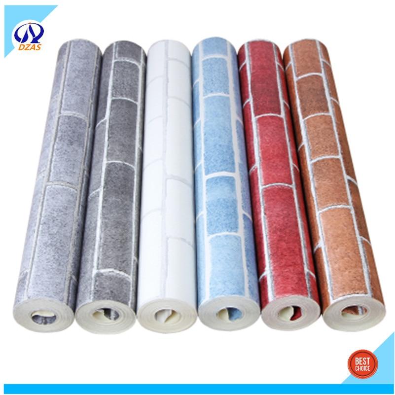 ФОТО DZAS brand red bricks wallpaper wall wallpapers 5.3 square meter per roll  paper Room Decor