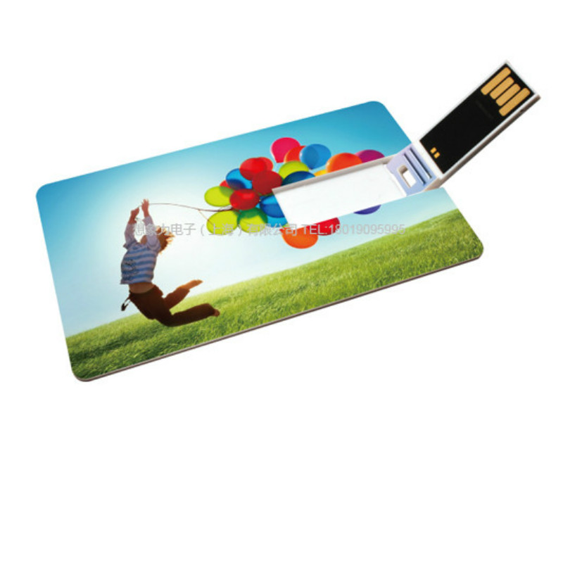 Small Storage 128MB 1GB - 8GB Credit Card Shaped Promotion Gift USB Drive Swivel Pendrive Stick Suit for Custom Logo Print Photo