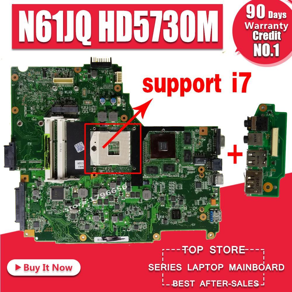 Send Board+N61JQ Motherboard HD5730M REV:2.0 For ASUS N61J N61JA Laptop Motherboard N61JQ Mainboard N61JQ Motherboard Test OK