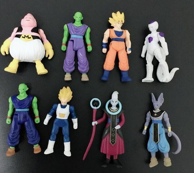 20 Pçs/lote Anime Action Figure Kids Brinquedos 7 CM Enfeites de Presente Dragon Ball dragonball z figuras famoso guerreiro figuras dos desenhos animados