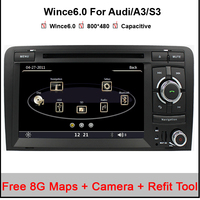 Capacitive Screen Two Din 7 Inch Car DVD Player For Audi A3 S3 2002 2011 Canbus