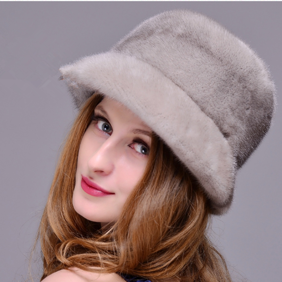 HM018  Winter hats for women  Real genuine mink  fur hat  women's winter hats whole piece mink fur hats mink skullies beanies hats knitted hat women 5pcs lot 2299