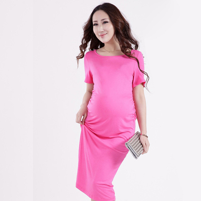 c65e5df613325 Star Pregnant Women Dress Hot Mom Maternity Dress Cheap Clothes China China  Clothing Traditional Solid Women Dress Summer Casual