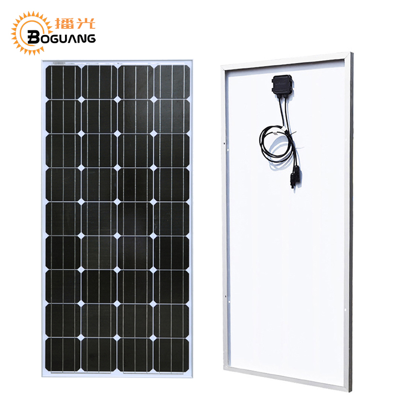 Boguang <font><b>100</b></font> <font><b>Watt</b></font> <font><b>Solar</b></font> <font><b>Panel</b></font> Monocrystalline Silicon 18v 1175*530*25mm Battery Compartment System/Home Power <font><b>Solar</b></font> Charger Modul image