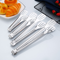 14 Inch Stainless Steel Long Food Clips Bread Clamp Grill Tongs Barbecue Grilling Bbq Tools Hotel Buffet Kitchen Utensils|Tongs|Home & Garden -