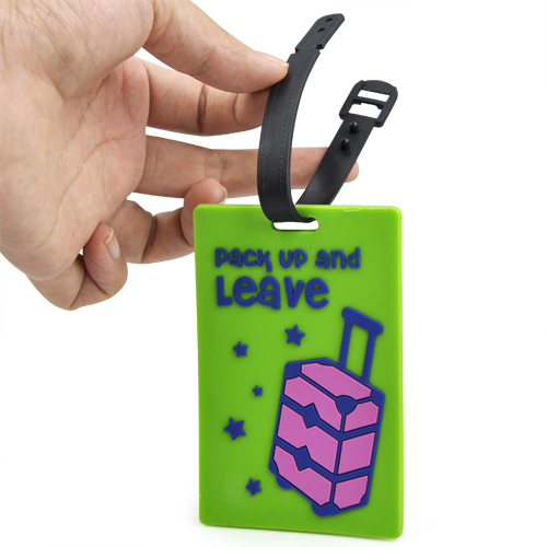 2X LJL Rubber Funky Luggage Tag Suitcase Tag Label Address ID Tags Travel Random Color