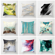 Fuwatacchi Ink Painting Cushion Cover Blooming Black and White Striped Pillow For Car Sofa Home Decorative Pillowcase