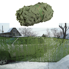 Купить с кэшбэком 1.5M*8M Pure Green Netting For Hunting Sniper Camping Photography Background Decoration Car Covers Tent Sun Shelter Sunshade Net