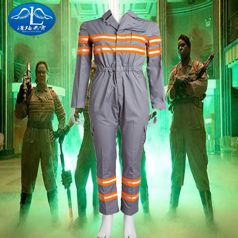 High Quality New Version COS Unisex Adult Ghost Busters Peter Dana Cosplay Costume Jumpsuits Unifrom Any Size Handmade