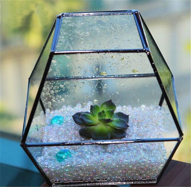 Geometric Glass Vase Terrarium Kit Soldered Glass Planter Bottle