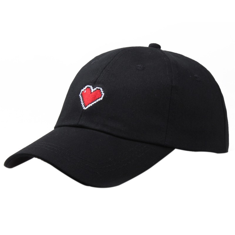 Hot Cap Women Men Simple Style Heart Embroidered Cotton Peaked Hats Headwear Sportswear Accessories Famous For High Quality Raw Materials, Full Range Of Specifications And Sizes, And Great Variety Of Designs And Colors