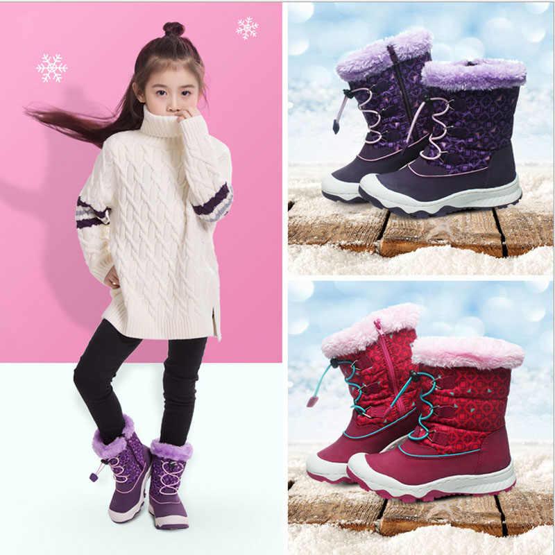新しい2018 uovoブランド子供ブーツ防水女の子のブーツ暖かい子供雪のブーツジップとバンジーレーシングスポーツブーイングため女の子靴