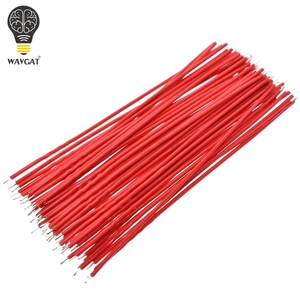 Image 5 - 100PCS Tin Plated Breadboard PCB Solder Cable 24AWG 10CM Fly Jumper Wire Cable Tin Conductor Wires 1007 24AWG Connector Wire
