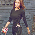 Womens tops fashion 2016 new arrival side slit shirt summer style long sleeve women tops 2016 side split shirt  AA407