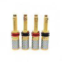 MATIHUR Carbon fiber 99.99% Pure Copper Gold Amplifier Speaker Terminal Binding Post XS2