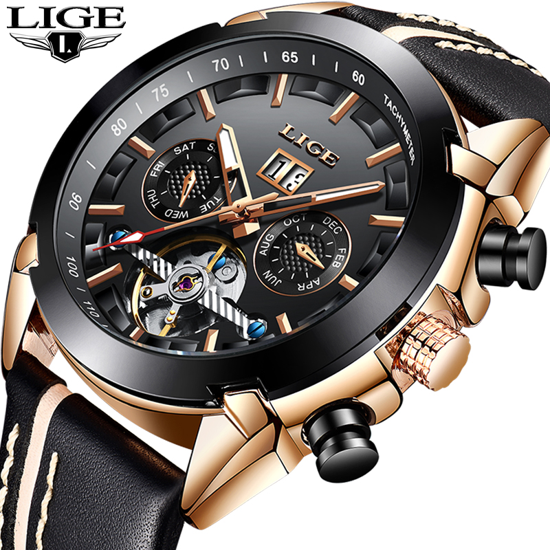 2019 Top Luxury Brand LIGE New Men Fashion Leisure Automatic Mechanical Watch Male Military Waterproof clock Relogio Masculino2019 Top Luxury Brand LIGE New Men Fashion Leisure Automatic Mechanical Watch Male Military Waterproof clock Relogio Masculino