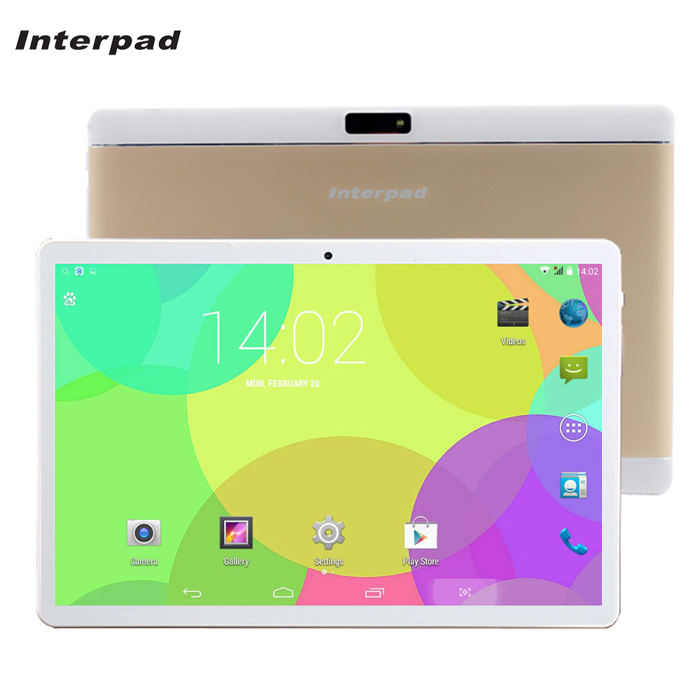Interpad Tablet 10.1 MTK6582 Quad Core 3G tablet android SIM WIFI Bluetooth GPS 2 GB RAM 16 GB ROM 10 android comprimés pc tablette
