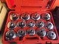 MADE IN TAIWAN 18 PCS Kit Ferramentas de Remoção de Chave do Filtro de Óleo Automotivo Universal Tipo de Copo Do Carro