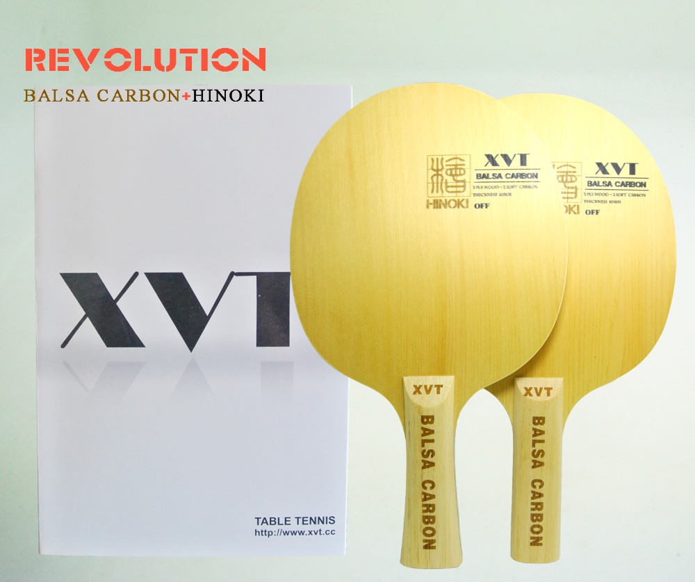 Original Lightest   XVT   BALSA  Carbon   Table Tennis Paddle/ Table Tennis Blade  Hinoki Wood+Basla Wood   Free Shipping(China)