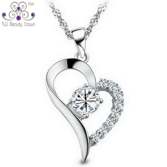Factory price wholesale wedding necklace lots cubic zirconia jewelry factory price wholesale wedding necklace lots cubic zirconia jewelry genuine 925 sterling silver love heart necklaces aloadofball
